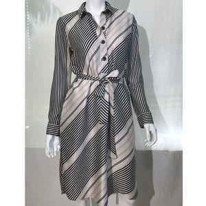 Ann Taylor striped shirt dress
